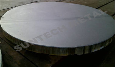 China Gr.12 / 516 Gr.70N Titanium Clad Plate Tubesheet for Anti-pitting Corrosion supplier