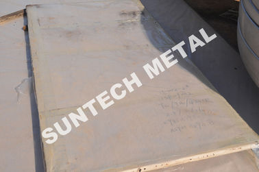 China Explosion bonded Multilayed Zirconium Tantalum Clad Plate Ta1 / SB265 Gr.1 / Q345R for Condensers supplier
