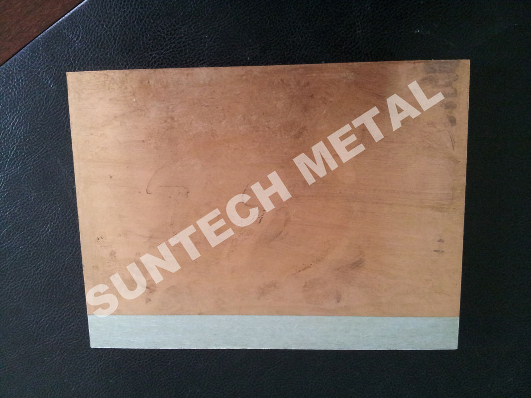 C1020 / A1050 Aluminum Copper Clad Plate , Explosion Cladded Plate