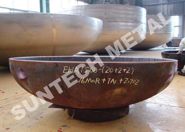 Zirconium and CS Anticorrosion Pressure Vessel Clad Head 2/1 EHA R60702/Zr702