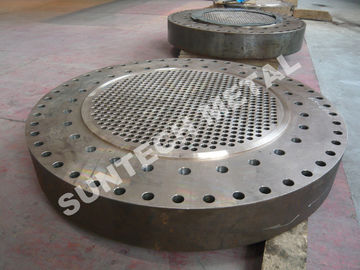 China Drilled B265 Gr2 / SA105 Explosion Bonded Clad Plate Tubesheet for Heat Exchangers distributor