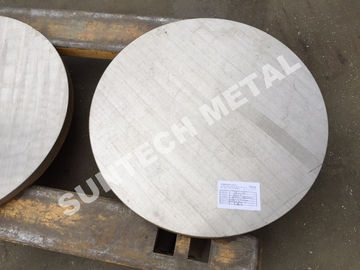 China SB265 Gr.1 Titanium / Carbon Steel Clad Tubesheet for Condensers distributor