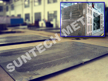 China Gr.2 / 516 Gr.70N Titanium Clad Plate Square Tubesheet for Steam Turbine distributor