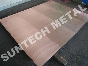 China Explosion Bonded 316L Copper Clad Tubesheet for Corrosion Resistance distributor