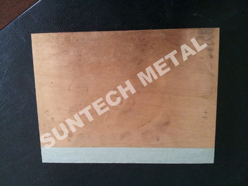 China C1020 / A1050 Aluminum Copper Clad Plate , Explosion Cladded Plate factory