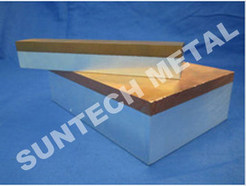 China C1100 / A1060 Thick Aluminum and Copper Cladded Plates for Transitional Joint distributor