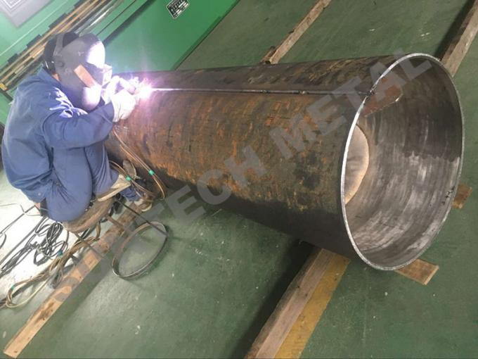 Explosive Welding Nickle Alloy Bimetallic Clad Pipe For Chemical Process Equipment